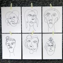 Kleine Kunstidee, Portrait, Kunst, DIY