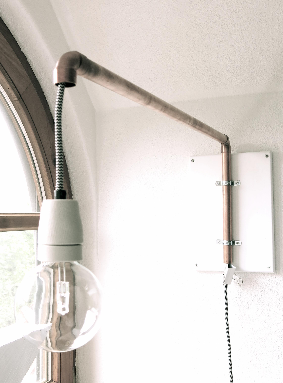 Diy Lampe No2 Modell Kupferrohr 107qm Schwarz Auf Weiß