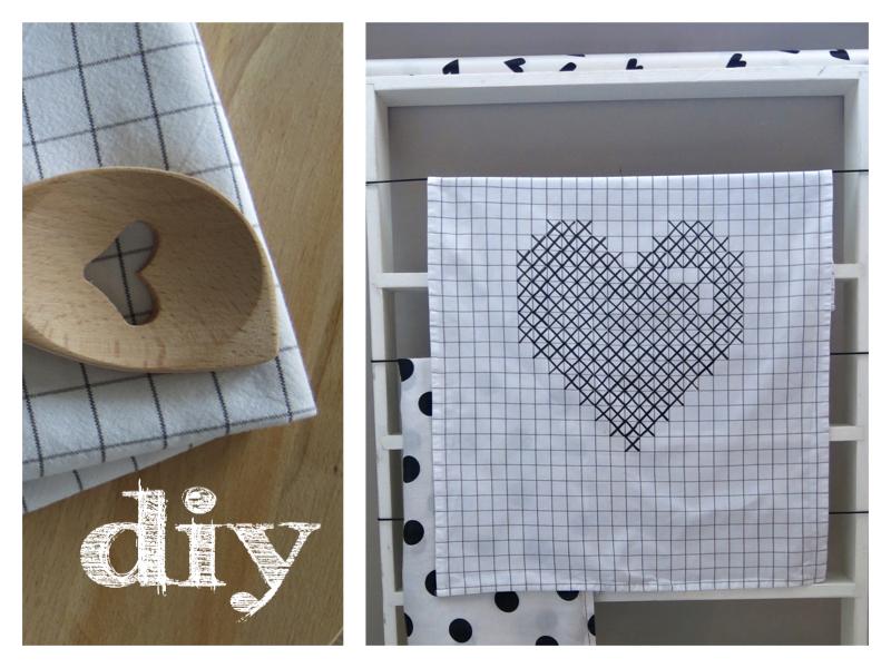 IKEA Geschirrtusch DIY Textilmarker