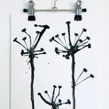Kunst,Papier, Tusche