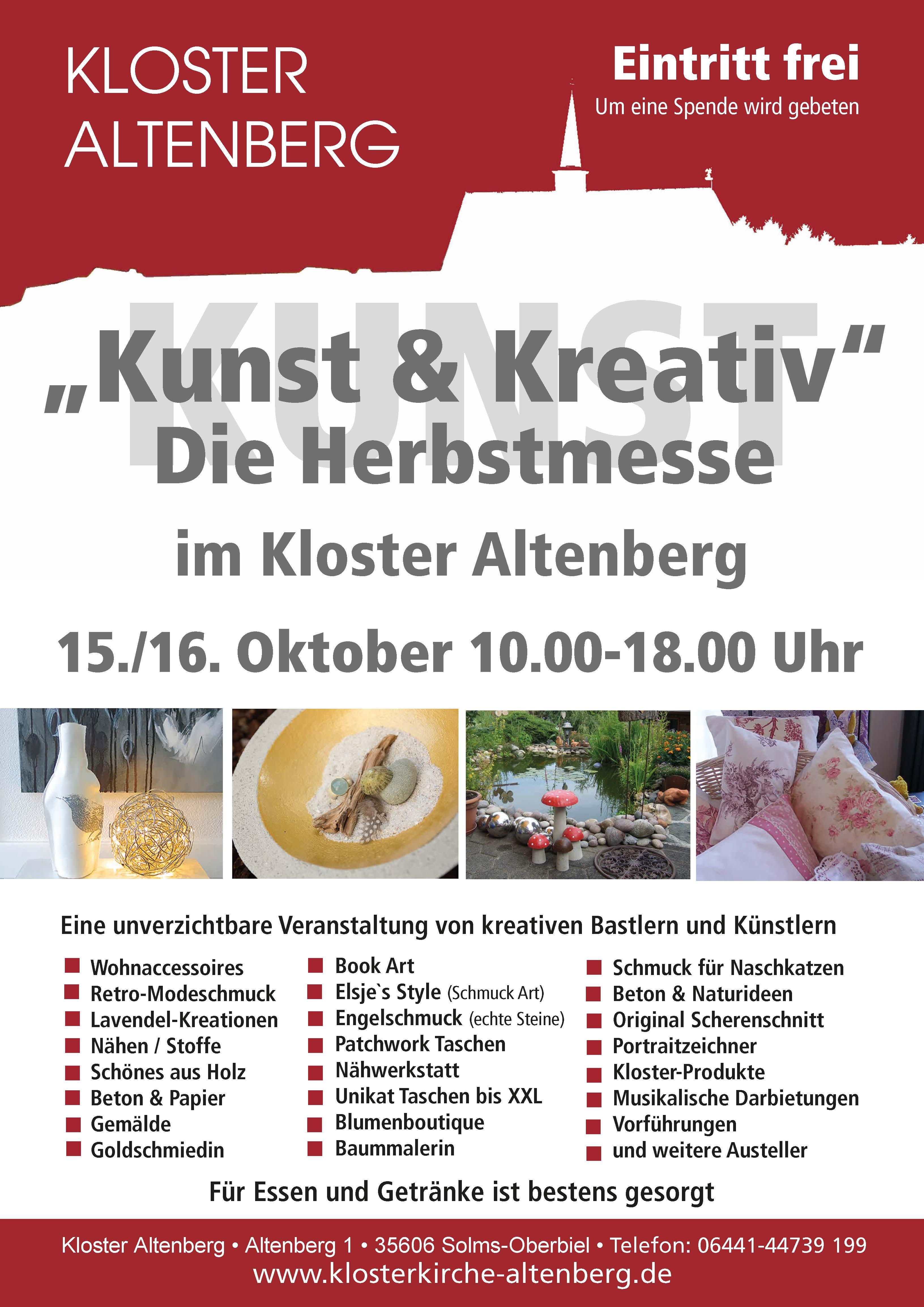 Plakat Kunst und Kreativ 28. Sept. 2016
